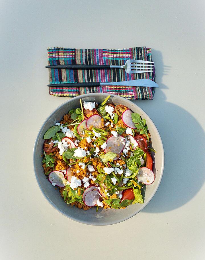 Jollof | Fonio Pilaf | Tomato + Feta | Grain Bowl