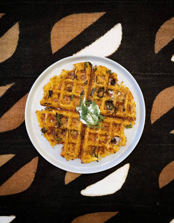 Jollof | Fonio | Waffle | with Broccolini